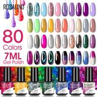 Rosalind مسمار هلام 80 ألوان 7 ملليلتر بلاستيكية زجاجة بريق التصوير العلاج بالضوء قابل للإزالة باربي البولندية الغراء امتداد لصالون الأظافر