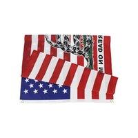 EUA Stock atacado 7 desenhos 3x5 ft 90 * 150 cm americano americano festa de chá suprimentos não pisar em mim serpente gadsden bandeiras