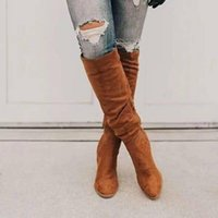 Boots Thigh High Over The Knee Fashion Lady Winter Warm Pointed Toe Sexy Zipper Women Comfortable Female Shoes