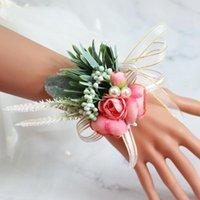 الزفاف الزفاف الصدار المعصم روز زهرة باقة العروسة العريس اليدوية الزخرفية الزخرفية الزهور