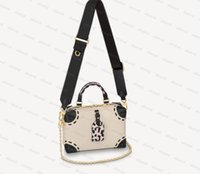 Top Quality Genuine Leather Petite Malle Souple Crossbody Bags Speedy Homens Mulheres Embreagem Tote Luxo Designer Moda Carteira Carteira Bolsa Bolsa de Ombro M45393