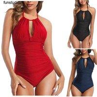 Sexy Large Size Swimwear Women One Piece Plus Swimsuit Closed Push Up Swimsuits Body 2021 Female Beach Wear Bathing Suit Women's