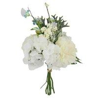 Dekorative Blumen Kränze Schöne Rose Pfingstrose Künstliche Seide Kleine Blumenstrauß Flores Home Party Frühling Hochzeit Dekoration Gefälschte Blume