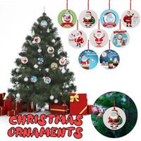 Tebrik Kartları 4 adet 2021 Noel Süsler Asılı Dekorasyon Hediye Ürün Kişiselleştirilmiş Aile Süslemeleri Ev Parti Yılı için