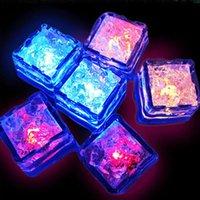 미니 LED 파티 조명 광장 색상 변경 LED 아이스 큐브 빛나는 얼음 조각 깜박이 깜박이 깜박이는 참신 파티 공급 298 R2