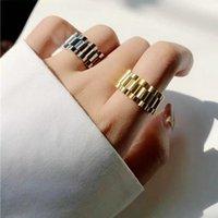 Anelli a cluster retrò hiphop uomini orologio collegamento anello anello in acciaio inox punk rock biker dito donne coppia gioielli moda regalo
