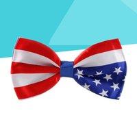 Новинка Новинка Bowtie Мужской костюм Мода США Флаг Большой галстук Патриотическое Бантик Шел (США)
