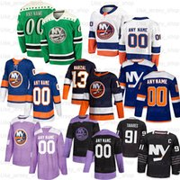Hockey Jerseys personalizzato 13 Mathew Barzal 4 Thomas Hickey 12 Josh Bailey 27 Anders Lee 7 Eberle 2 Nick Ledy