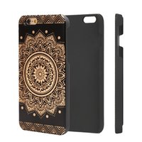 Cell Phone Cases Shockproof 2D Printed Logo Pattern For iPhone 6 7 8 Plus X XR XS Max Hot-Selling Black Wood PC Back Cover Shell Wholesale