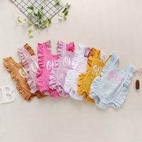 Flutter Sleeves ONE Rompers for Baby Girls Candy Color Kids Boutique Clothing 0-2T Infant Toddlers Cotton Backless Onesies Fashion Cute