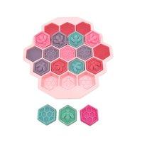 بار سيليكون أنبوب الجليد قوالب 19 شبكة النحل honeycomb شكل BPA صواني مرنة مجانية ل Whisky كوكتيل GWE5359