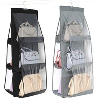 Storage Bags Hanging Handbag Organizer For Wardrobe Closet Transparent Bag Door Wall Clear Sundry Shoe With Hanger Pouch
