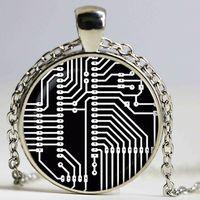 Цветная доска подвеска. Напечатанное электронное ожерелье. Компьютерные украшения PCB, щелчок, рождественские подарочные кулон ожерелья