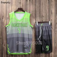 Hombres Jerseys de baloncesto Equipo Sports Trajes transpirables Quick Seco modificados para requisitos particulares Uniformes de baloncesto juventud Kits 2019 Nuevo