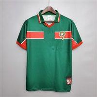 الرجعية المغرب 1998/99 كرة القدم الفانيلة الحاجي تشيبو هاددا نايبت باسر تشيبا خمر قميص كلاسيكي كيت