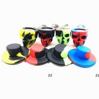4 색 실리콘 흡연 파이프 크리 에이 티브 해골 모양 위장 필터 담배 홀더 휴대용 가정용 담배 액세서리 HWF8762