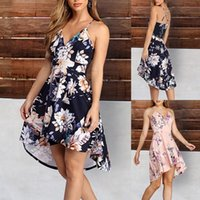 Dress 2021 Fashion Temperament Sexy All-match Womens Casual Loose Short Sleeve V-Neck Print Dresses For Women