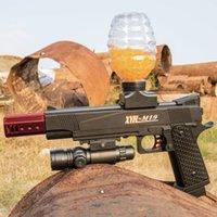 M1911 الكهربائية عالية السرعة الكريستال قنبلة الكرة الكرة لعبة بندقية النار مسدس سلاح blaster الادسنس للبالغين الأولاد cs الذهاب في الهواء الطلق لعبة
