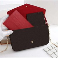 2021 Set de 3 piezas de alta calidad para ladies Bolsas de hombro Mensajero Correa de cadena Mano de la mano con la caja y la bolsa de polvo