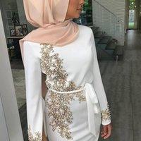 Vêtements ethniques Femmes Musulman Dubaï Dubaï Abaya Maxi Long Maxi Robe Floral Dentelle Perles Perles Hijab Kaftan