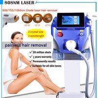 Профессиональная диодная лазерная машина для удаления волос 808 755 1064 Уход за кожей Лазерное лицо Красота для лица