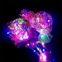 크리 에이 티브 홀리데이 파티 장난감 요정 완드 보보 공 마술 지팡이 공을 깜박이는 공 크리스마스 선물 어린이의 빛나는 LED 장난감 선물