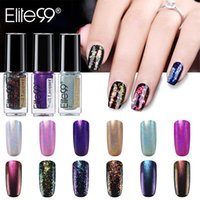 Elit99 6ml holografisk laser nagellack lysande glitter konstlack stämpling manikyr underbara färger