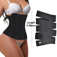 Updated Version Belts VS FeelinGirl Waist Trainer for Women Sauna Trimmer Belt Tummy Wrap 3meter 4meter 5meter 6meter with Opp Bag 100701