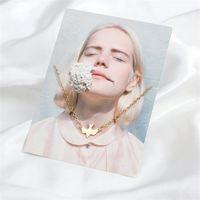 Semplice stile piccolo fresco volante uccello collane a forma di animale a forma di catena di clavicola per le donne fashion party regali ciondolo