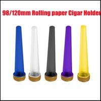 98mm 120mm PREROLL PRAGOLLAGER SAC en plastique SAC CONical Tubes à l'air Souffre Souffrant Sold Porte-cigarets Rolling Papier avec Cr Lids Ups
