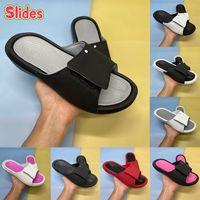 Box Hydro 6 슬라이드 슬라이드 남성 여성 샌들 신발 체육관 레드 블랙 메탈릭 골드 쿨 그레이 핑크 패션 망 스니커즈 미국 4-11