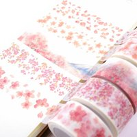Geschenk Wrap Japan Rosa Sakura Wahi Tape Scrapbooking Material Junk Journal Blume Aufkleber DIY Hobby Dekorative Kartenherstellung Handwerk Schreibwaren