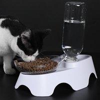 Çift Kullanım ABS Köpek Besleyici Boyun Koruma Depolama Içme Su Pet Malzemeleri Ile Yükseltilmiş Standı Kedi Kase Güvenli Çıkarılabilir Anti Kaçak Kase Besleme