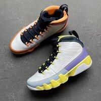 With box cambio il mondo 9s scarpe da basket da uomo bianco Desert Berry Healing Orange Cactus Flower 9 uomini formatori Sneakers sportivi CV0420-100 Dimensioni 7-43