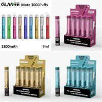 Glassee Mate Monouso Pod Device Vape Dispositivo Sigaretta 3000 Blows 1800mL 9ML Premilled VAPOR Bar Stick Pen Sigarettestarter Kit