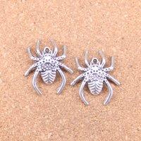 43 adet Antik Gümüş Bronz Kaplama Örümcek Arachnic Charms Kolye DIY Kolye Bilezik Bileklik Bulguları 28 * 25mm
