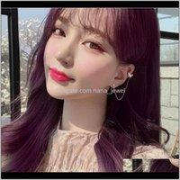 Jewelry1 Pcs Korean 925 Sterling Sier Tassel Butterfly Statement Stud Earrings For Women Wedding Jewelry Pendientes Eh14151 Drop Delivery 20