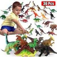 Mini Dinosaur Wildlife Model Animal Toy Simulation Jungle Jungle Wild Zoo Modello di plastica Azione Azione Dinosauro Figure Giocattoli per ragazzi Regalo