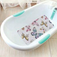 Almohadilla de baño con estera de baño antideslizante con estera de baño, material de espuma de PVC con ventosa para accesorios de baño