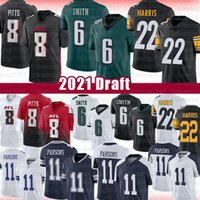 6 Devonta Smith 1 Kadarius Toney 22 Najee Harris Football Jersey 8 Kyle Pitts 11 Micah Parsons 2021 Entwurf American Football Trikots