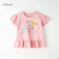 Malwee Girls 'летнее новое хлопок с коротким рукавом детская футболка