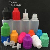 20ml Kunststoff-Nadel-Dropper-Leerflasche für E-Saft E-Liquid-LDPE-PET-VAPE EZIG-Ölcontainer-Aufbewahrungsgefäß mit kindersicheren Buntenkappen