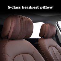 For Mercedes Benz Maybach S-Class Memory foam pillow headrest Car Travel Neck Rest supplies back Pillows Seat Cushion Support Third Generation