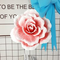 Giant PE Rose Flower Home Accessories Stage Wedding Backdrop Decoration Road Lead Mall Window Layout Fake Flowers