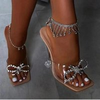 Anklets 1pcs Sexy Luxury Rhinestone Tassel Bracelet Women's Summer Beach Shining Crystal Anklet Ankle Barefoot Accessories Wholesale