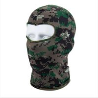 Cycling Caps & Masks Camouflage Motorcycle Face Mask Outdoor Sports Neck Winter Warm Ski Snowboard Wind Cap Balaclavas