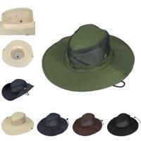 Moda al aire libre Hat Sólido Color Pescador Ve Pesca Sombrilla Cap Camuflaje Montañismo Jungle Man Womans Accesorios Primavera Verano 4 35hs Y2