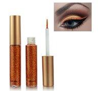Paillettes liquide eye-liner portable maquillage brillant maquillage liquide doublure crayon de longue durée de vie quick-durable beauté cosmétique eye-liner brillant