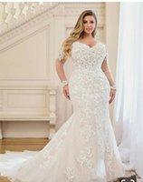 2022 Hot African Nigeria Mermaid Wedding Dresses Beaded Tiered Ruffles Court Train Custom Plus Size Formal Bridal Gowns