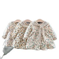 Girl's Dresses 2PCS Cute Toddler Baby Girls Ruffles Floral Long Sleeve Princess Dress Party Pageant Korean Kids Clothes